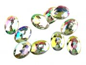 Papercellar Large Oval Gems  Silver Multi