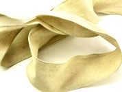 Wired Edge Plain Linen Rustic Ribbon