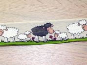 Sheep Design Wired Edge Ribbon