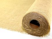 Premium Quality Cut Edge Rustic Hessian Fabric  Natural