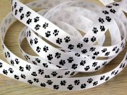Paw Prints Satin Ribbon