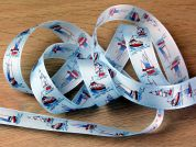 Nautical Sailing Ships Print Taffeta Ribbon