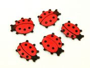 Padded Motif Applique Shapes Ladybirds