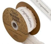 38mm Congratulations Ribbon  Cream