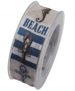 Beach Print Ribbon
