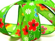 Rustic Flower Wired Edge Ribbon