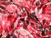John Kaldor Abstract Print Chiffon Dress Fabric  Pink & Wine
