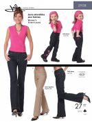 Jalie Ladies & Girls Sewing Pattern 2908 Stretch Jeans