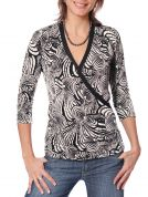 Jalie Ladies & Girls Easy Sewing Pattern 2910 Faux Wrap Top