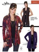Jalie Ladies & Girls Easy Sewing Pattern 2919 Pleated Cardigan & Vest