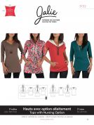 Jalie Ladies Easy Sewing Pattern 3132 Nursing, Regular Tees & Tunics