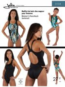 Jalie Ladies & Girls Easy Sewing Pattern 3134 Racerback Swimsuit