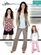 Jalie Ladies & Girls Sewing Pattern 3243 Pull On Pants & Shorts