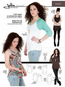 Jalie Ladies & Girls Easy Sewing Pattern 3245 Raglan Tee, Racerback Tank & Tunics