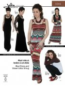 Jalie Ladies & Girls Easy Sewing Pattern 3246 Maxi Dress & Shawl Collar Shrug