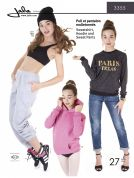 Jalie Family Easy Sewing Pattern 3355 Sweatshirt, Hoodie & Sweat Pants