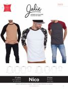 Jalie Men & Boys Easy Sewing Pattern 3669 Niko Raglan Tees