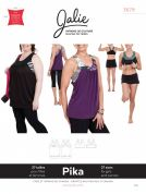 Jalie Ladies & Girls Sewing Pattern 3679 Pika Sport Bra & Layered Blouson Tank