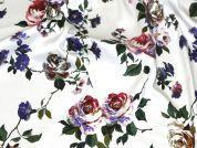 Vintage Floral Jardin Stretch Cotton Sateen Dress Fabric