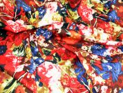 Extravagant Floral Jardin Stretch Cotton Sateen Dress Fabric
