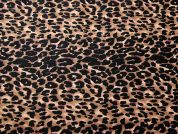 Animal Print Jardin Stretch Cotton Sateen Dress Fabric  Black & Brown