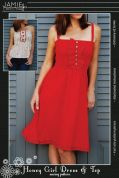 Jamie Christina Ladies Sewing Pattern Honey Girl Dress & Top