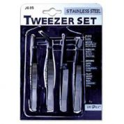 Impex 4 Piece Tweezers Set for Jewellery Making