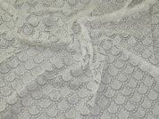 Beaded Lace Fabric  Ivory