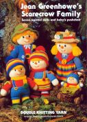 Jean Greenhowe Knitting Pattern Book Scarecrow Family