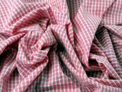Gingham Check Cotton Seersucker Dress Fabric