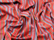Colour Woven Stripe Cotton Dress Fabric