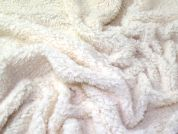 Supersoft Plain Chunky Sherpa Textured Fleece Dress Fabric  Cream