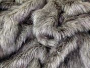 Luxury Faux Fur Dress Fabric  Beige & Grey