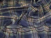 Plaid Check Coating Weight Dress Fabric  Navy, Olive & Tan