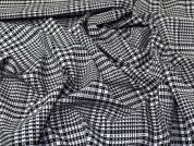 Woven Polyester, Viscose & Spandex Stretch Suiting Dress Fabric  Black & White