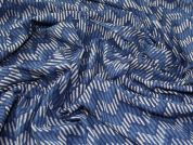 Hand Printed Geometric Batik Cotton Dress Fabric  Indigo