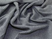 Herringbone 100% Pure Wool Suiting Dress Fabric  Grey
