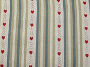Colour Woven Heart Cotton Jacquard Upholstery Fabric