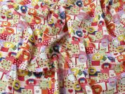 Sweet Dreams Patchwork Print Cotton Poplin Dress Fabric  Multicoloured