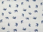 Birds Print Cotton Poplin Dress Fabric