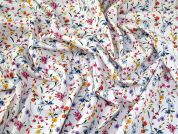 Floral Cotton Fabric  Multicoloured