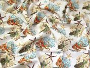 Under the Sea Cotton Fabric  Multicoloured