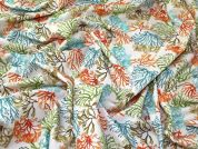 Seaweed Cotton Fabric  Multicoloured