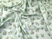 Ducks Cotton Fabric  Green