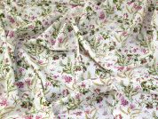 Floral Cotton Fabric  Cream
