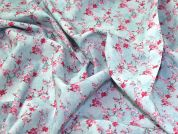 Printed Cotton Fabric  Pink & Blue