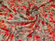 Cotton Lawn Fabric  Pink & Grey