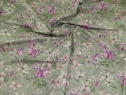 Cotton Lawn Fabric  Heather