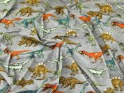 Dinosaur Jersey Knit Fabric  Multicoloured