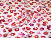 Cotton Jersey Knit Fabric  Pink & Red